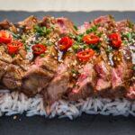 Beef Teriyaki – Tagliata di manzo con salsa taré e riso basmati