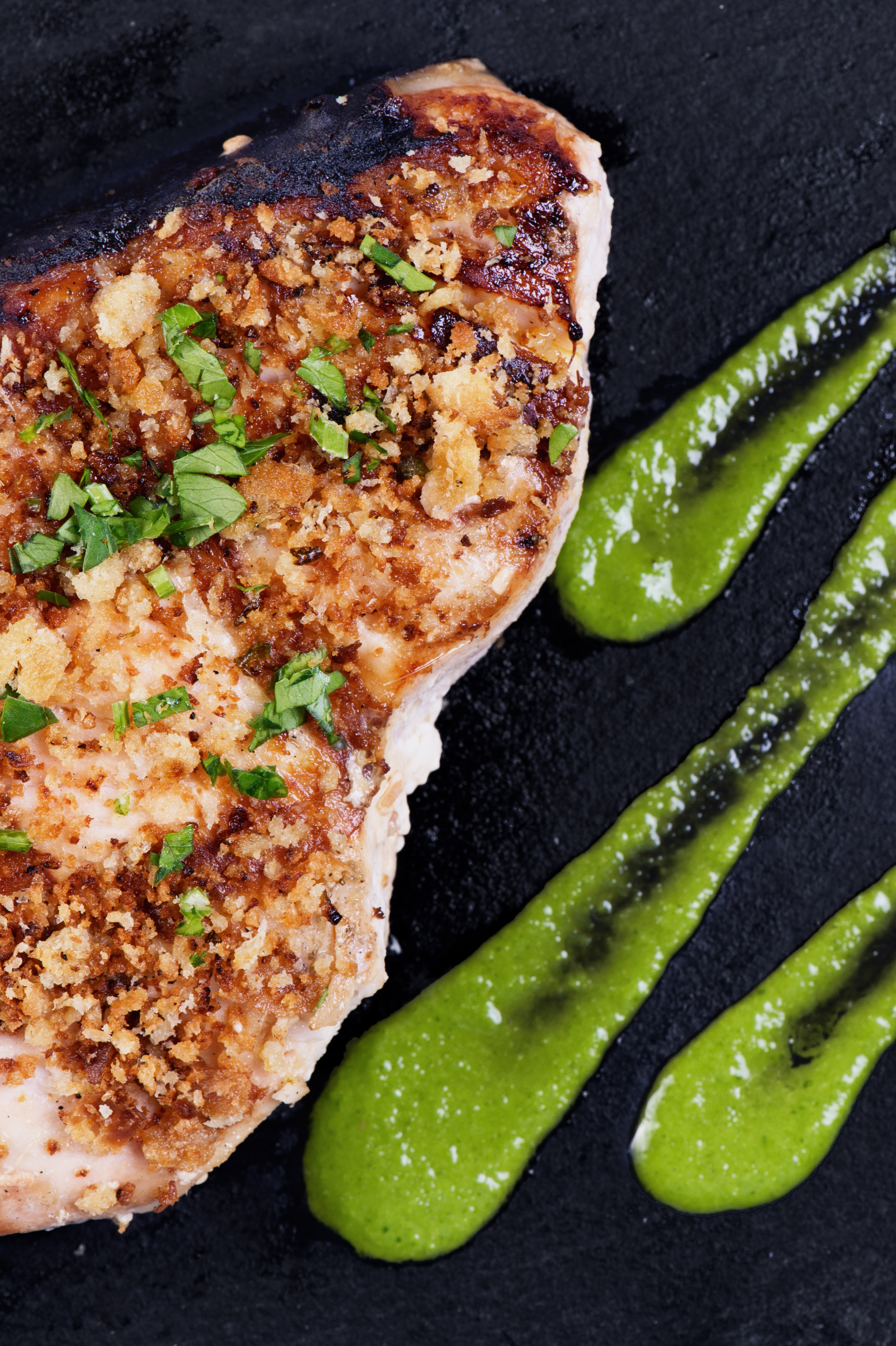 Trancio di spada in crosta con salsa verde