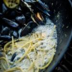 Spaghetti cozze, Prosecco e limone
