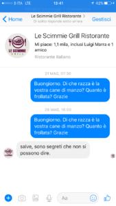 Screenshot conversazione