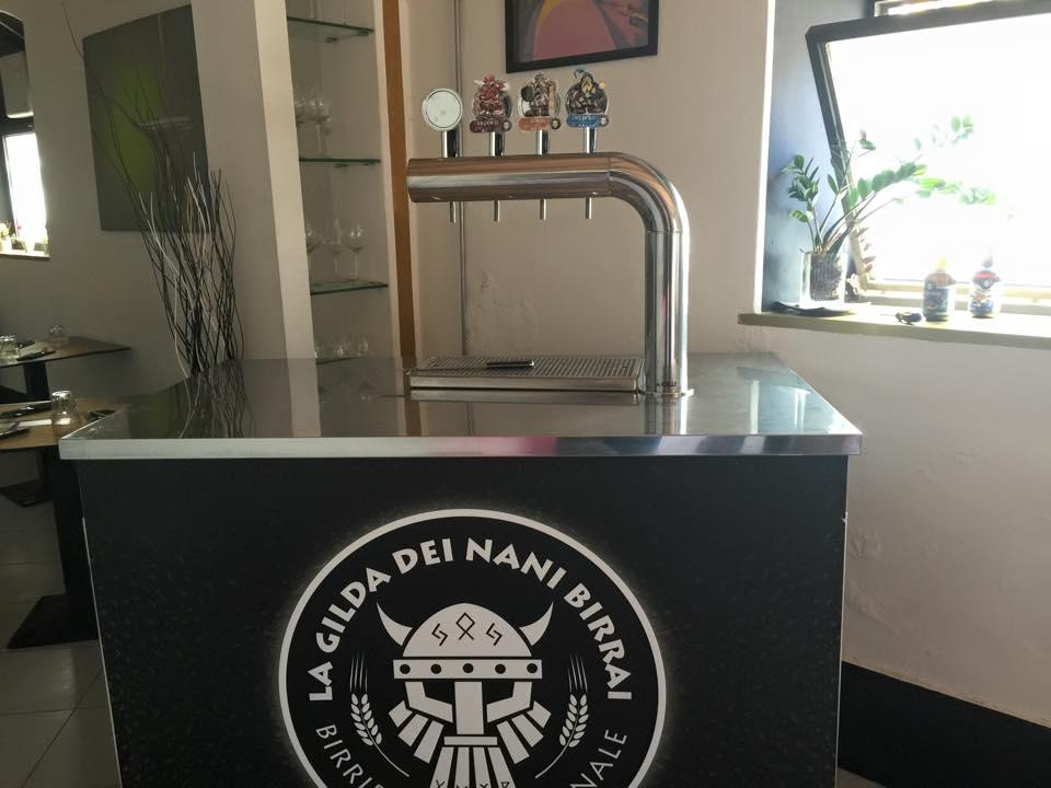 Postazione per spillatura birra artigianale