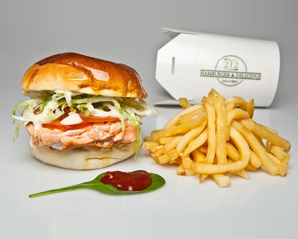 Hamerica's Salmon Burger