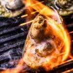 Cozze verdi alla griglia con burro salato e pistacchi